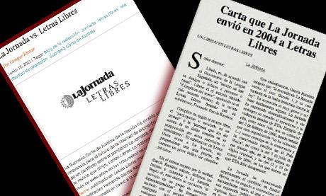 El debate por la libertad de expresión en México. La Jornada versus Letras Libres. Fuente: animalpolitico.com