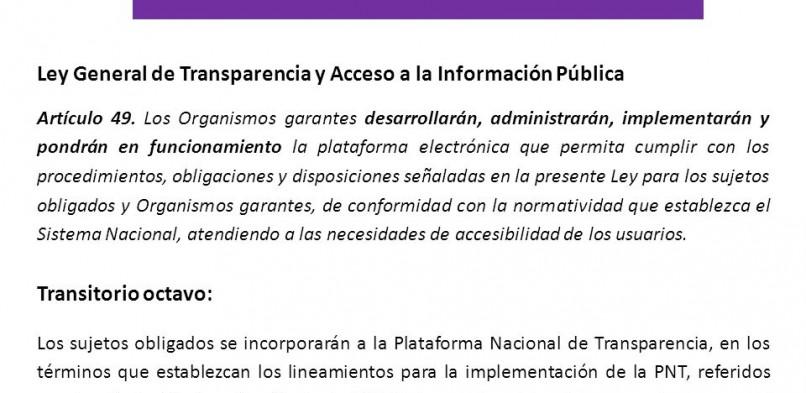 La Plataforma de Transparencia llegó