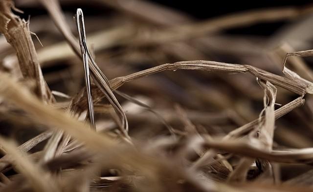 Transparencia: aguja en un pajar