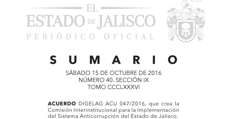 Sistema Anticorrupción en Jalisco