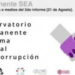 Segundo informe del Observatorio permanente del Sistema Estatal Anticorrupción