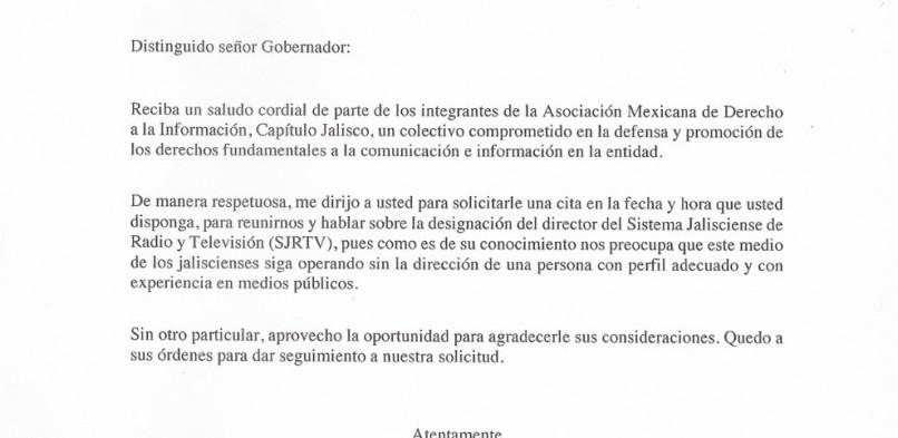 Amedi Jalisco insta al Gobernador Enrique Alfaro a garantizar el Derecho a la Información de los jaliscienses